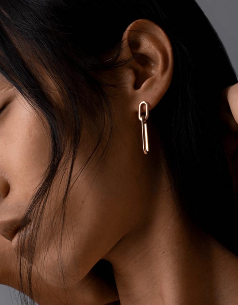Jenny Bird Stevie Link Drop Earrings - Gold