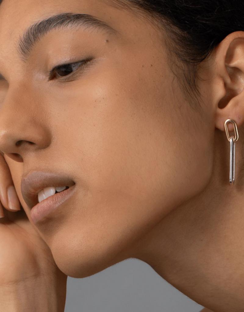 Jenny Bird Stevie Link Drop Earrings - Two-Tone