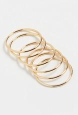 Shashi Classic Ring Set - Gold