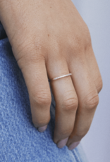 Shashi Diamond Bar Ring - White Gold