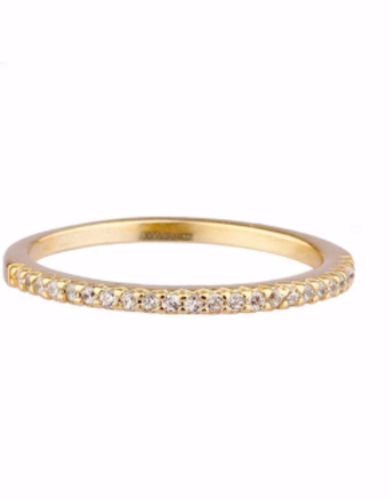Shashi Diamond Bar Ring - Gold