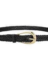 Sancia Annely Woven Belt - Black