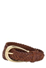 Sancia Annely Woven Belt - Vintage Tan