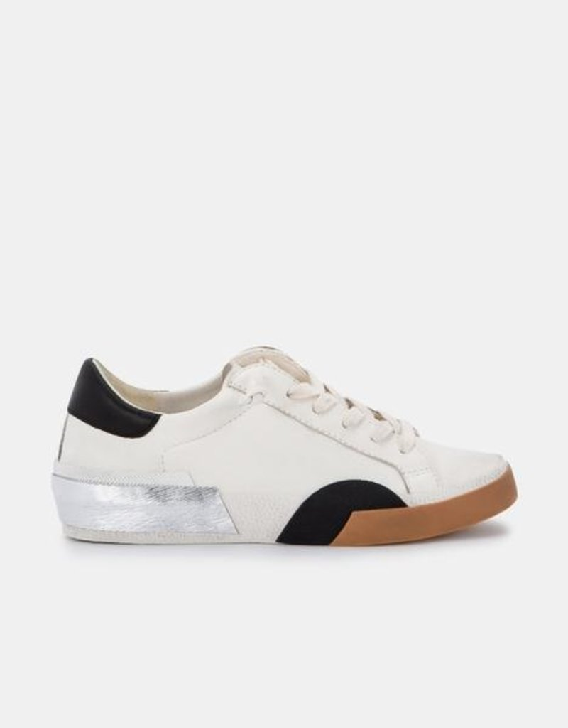 Dolce Vita Zina Sneakers - White Black Leather