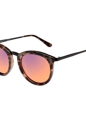 Le Specs No Smirking Sunglasses - Volanic Tort Black Mirror