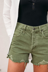 Free People Makai Cut Off Shorts - Olive
