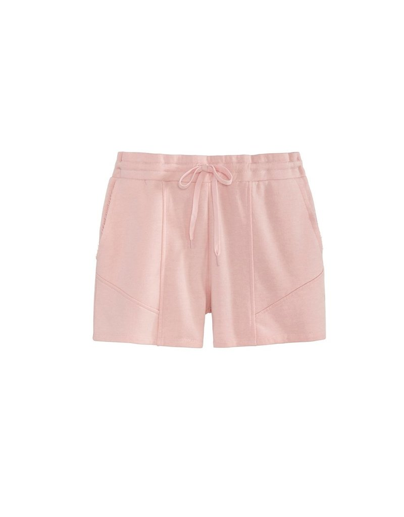 525 Elastic Drawstring Distressed Shorts