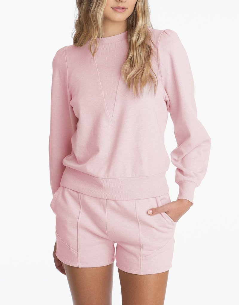 525 High Crewneck Long Sleeve Distressed Sweater