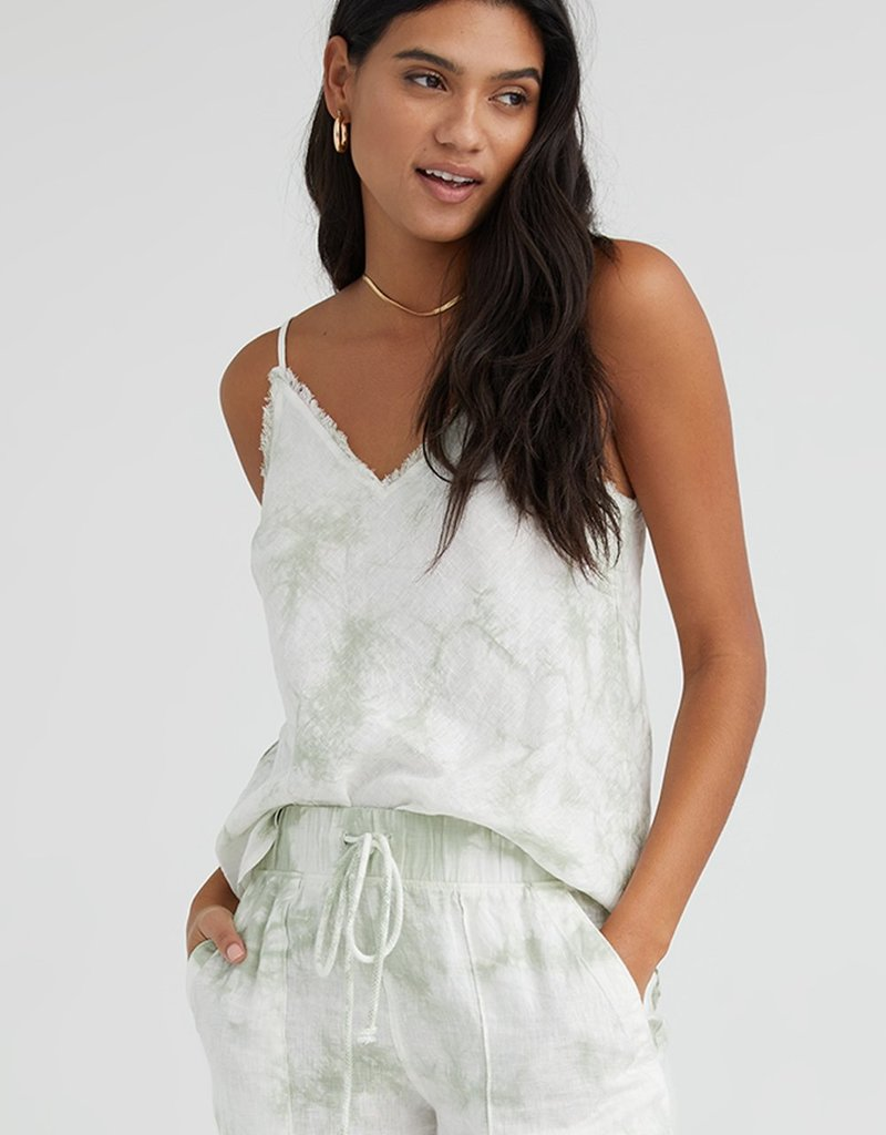 Bella Dahl Frayed Edge Camisole - Mint Tie Dye