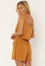 Amuse Society Salma Knit Tank - Amber Light
