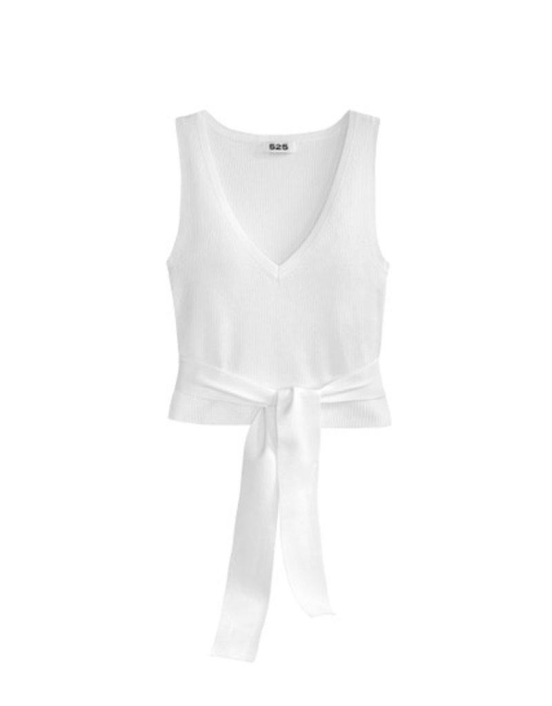 525 Deep V-Neck Sleeveless Top with Ties