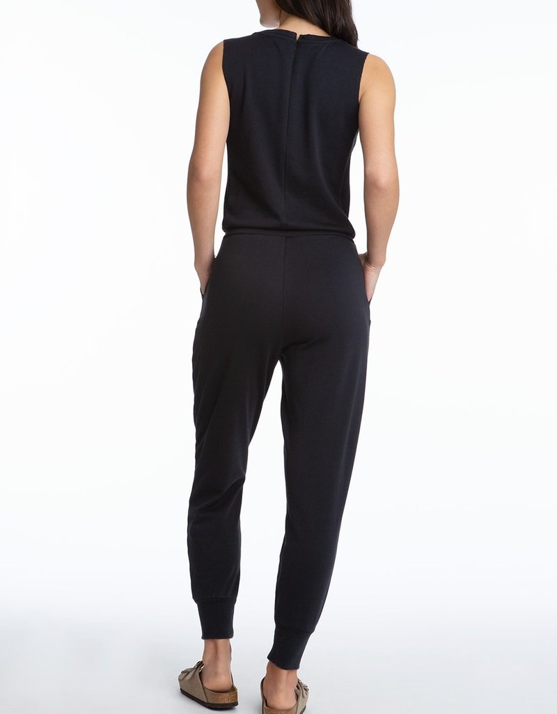 525 Open Neck Distressed Sleeveless Jumpsuit