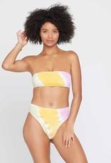 L*SPACE Tie Dye Beach Wave Bikini Top