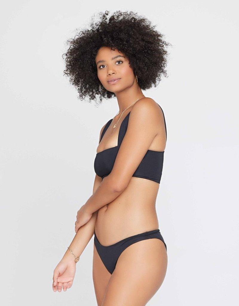 L*SPACE Sandy Bikini Bottom - Black