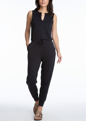 525 Open Neck Distressed Sleeveless Jumpsuit