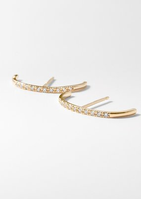 Thatch Mini Thomas Pavé Earrings