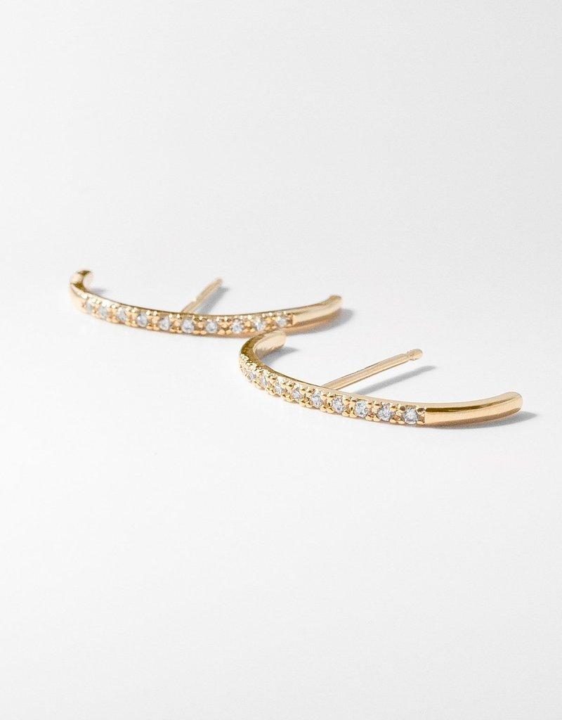 Thatch Mini Thomas Pavé Earrings