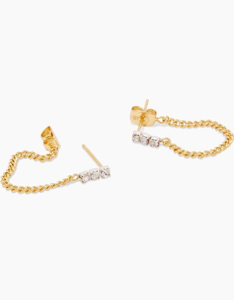 Gorjana Wilder Shimmer Chain Huggies