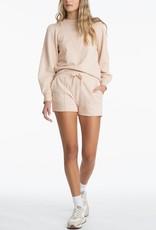 525 Elastic Drawstring Distressed Shorts - Oat