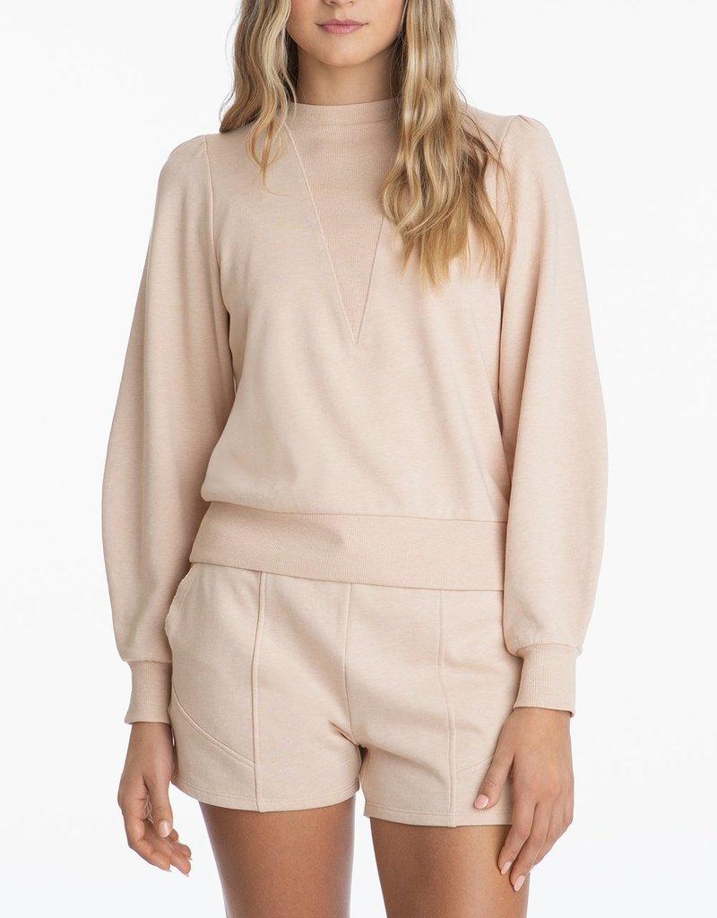 525 High Crewneck Long Sleeve Distressed Sweater - Oat