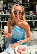 Amanda Uprichard Sleeveless Bexley Top - Ice Blue