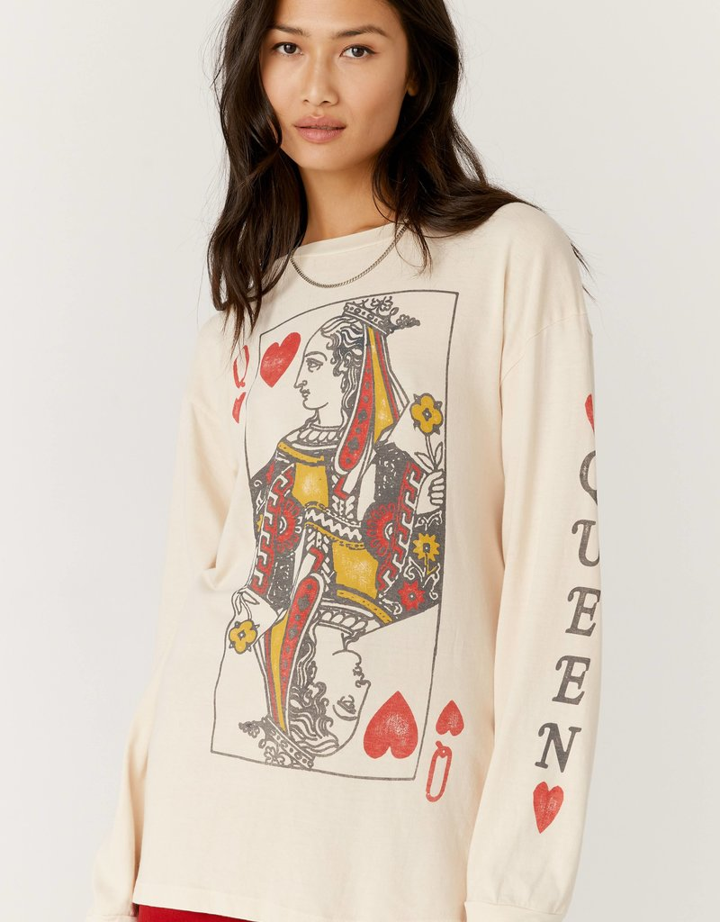 Daydreamer Queen Of Hearts Oversized Long Sleeve