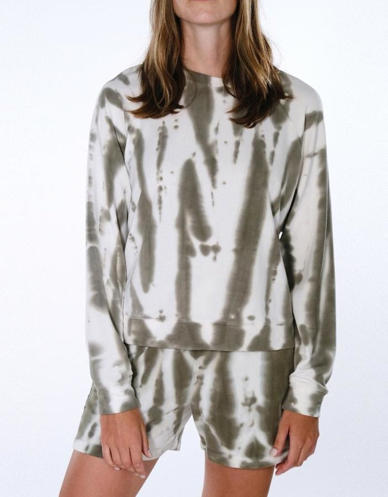Sanctuary Happy Days Sweatshirt - Organic Green Stripe