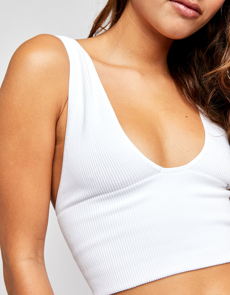 Free People Everyday Seamless Crop - White