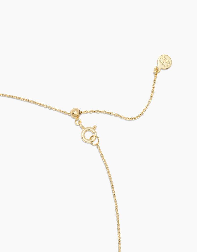 Gorjana Cayne Crescent Charm Adjustable Necklace