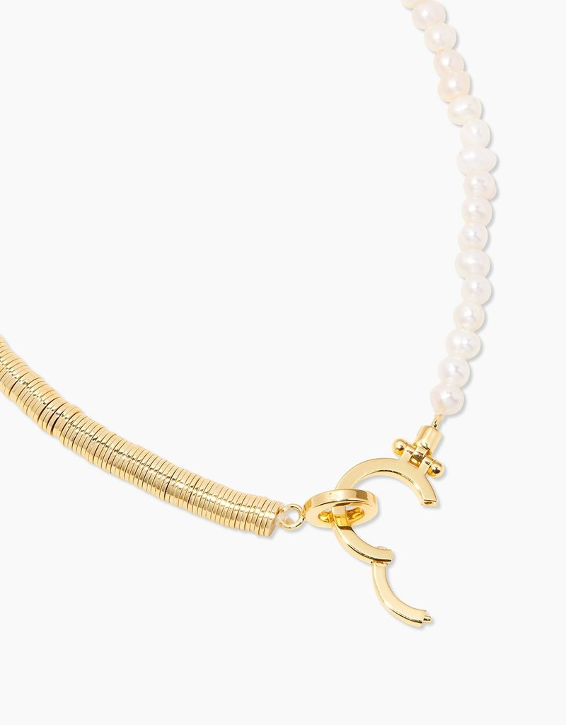 Gorjana Margot Pearl Asymmetrical Necklace