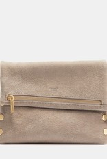 Hammitt VIP Med Leather Clutch - Grey Natural/Gold