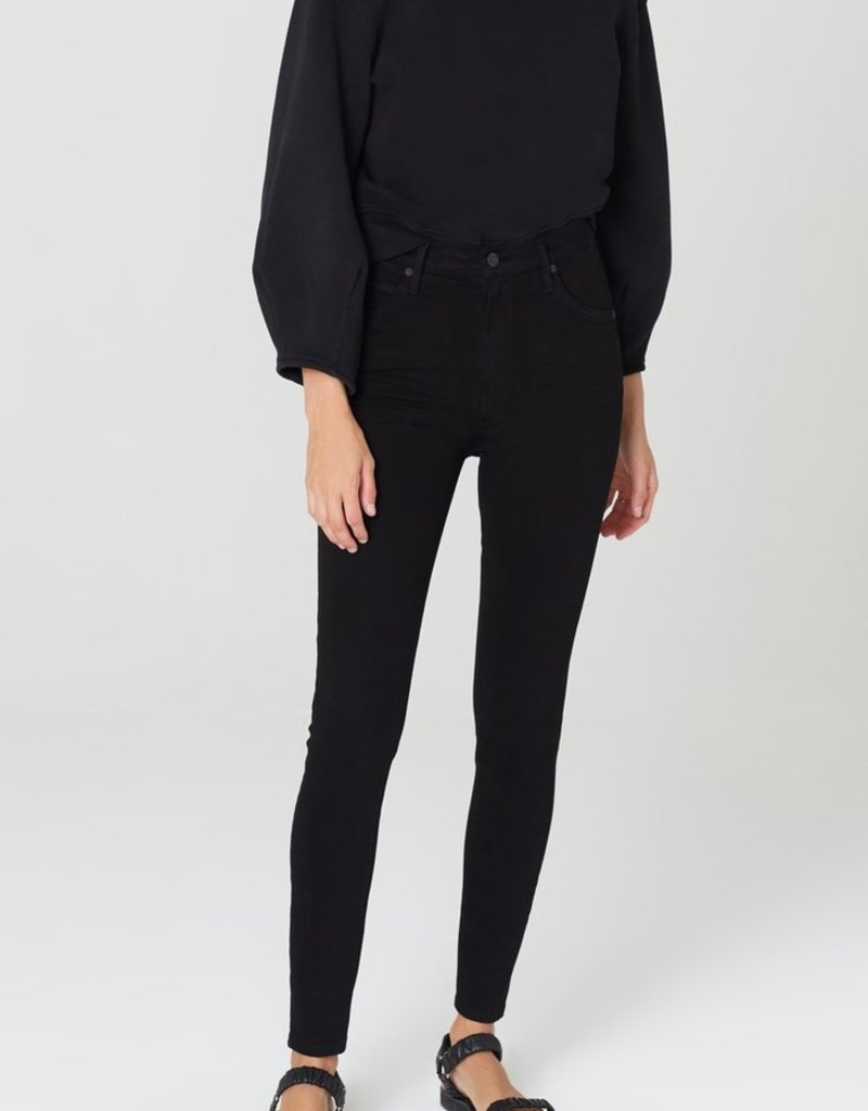 Citizens of Humanity Chrissy High Rise Skinny Fit - Plush Black