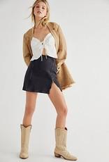Free People Midnight Magic Denim Skirt