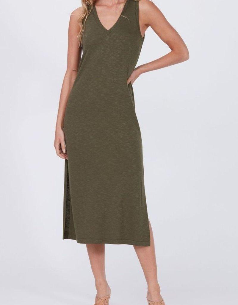 Paige Sage Midi Tank Dress - Olive