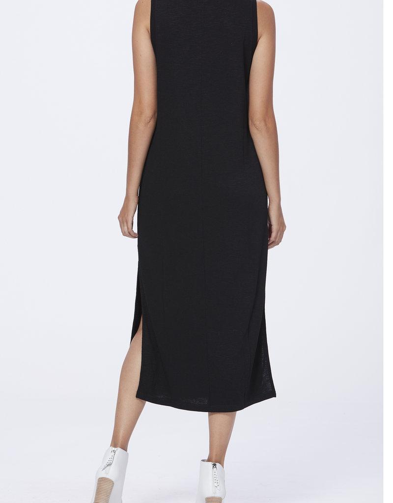 Paige Sage Midi Tank Dress - Black