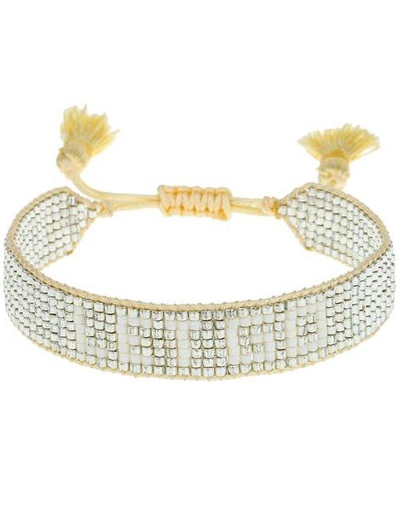 """HART Metallic """"Let Go"""" Beaded Bracelet"""