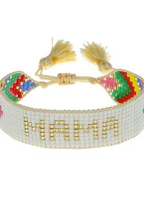 """HART Chevron Rainbow """"Mama"""" Beaded Bracelet"""