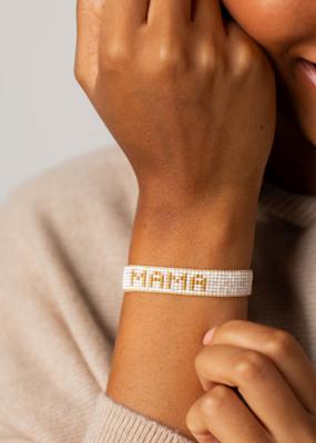 "HART Small White + Gold ""Mama"" Bracelet"