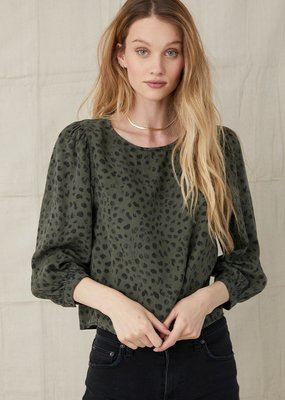 Bella Dahl Bishop Sleeve Pullover - Ivy