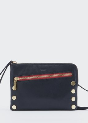 Hammitt Nash Small - Black/Brushed Gold With Red Zip