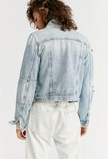 Free People Rumors Denim Jacket - Light Wash