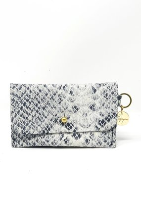 ALLIEJAYMES Card Case with Key Ring - Python