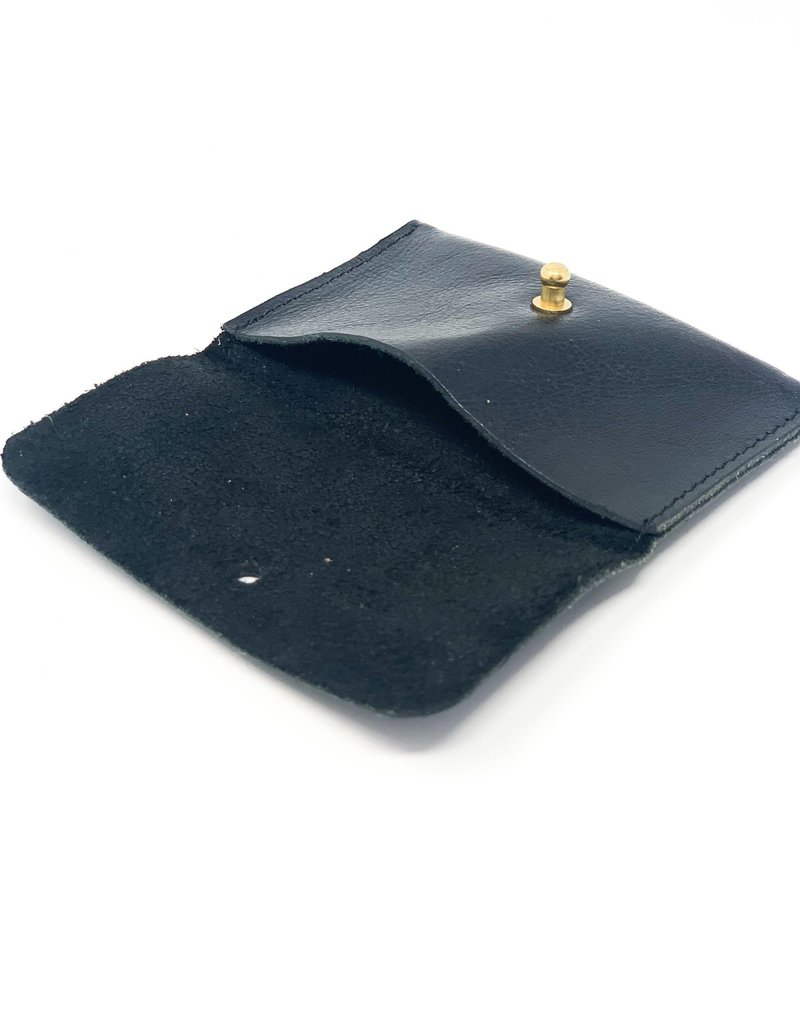 ALLIEJAYMES Leather Card Case - Black