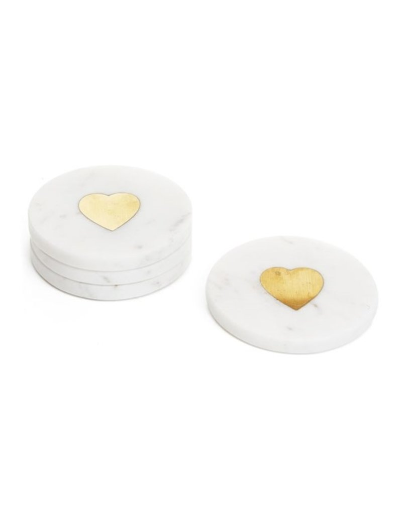 LABEL Marble Heart Coasters
