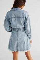 Free People Chain of Command Mini Dress