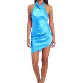 Amanda Uprichard Samba Silk Dress - Sky