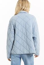 Z Supply Maya Knit Denim Quilted Jacket