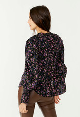Free People Meant To Be Blouse - Black Combo