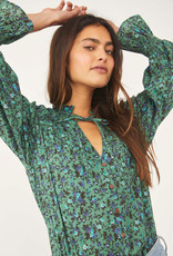 Free People Meant to Be Blouse - Aqua Combo