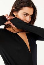 Free People Kaya Bodysuit - Black